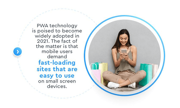 PWA Technology Women Phone